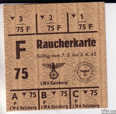 Raucherkarte 3. Reich